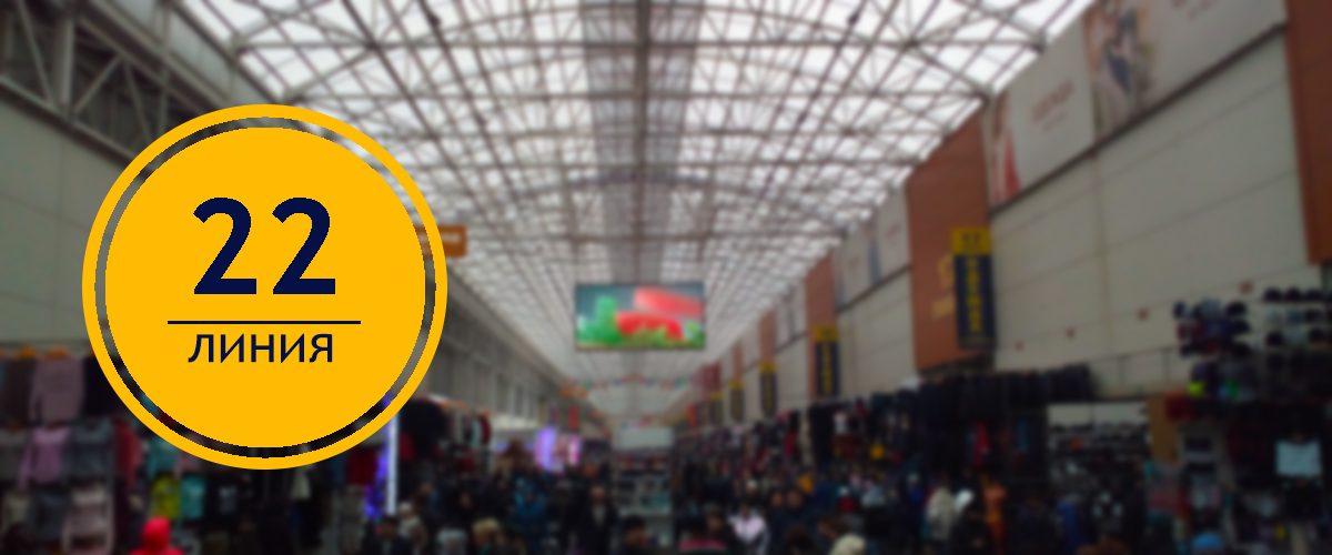 22 линия рынок Садовод в Москве
