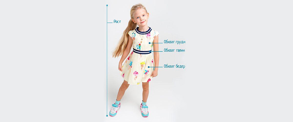 Как измерить одежды для девочки