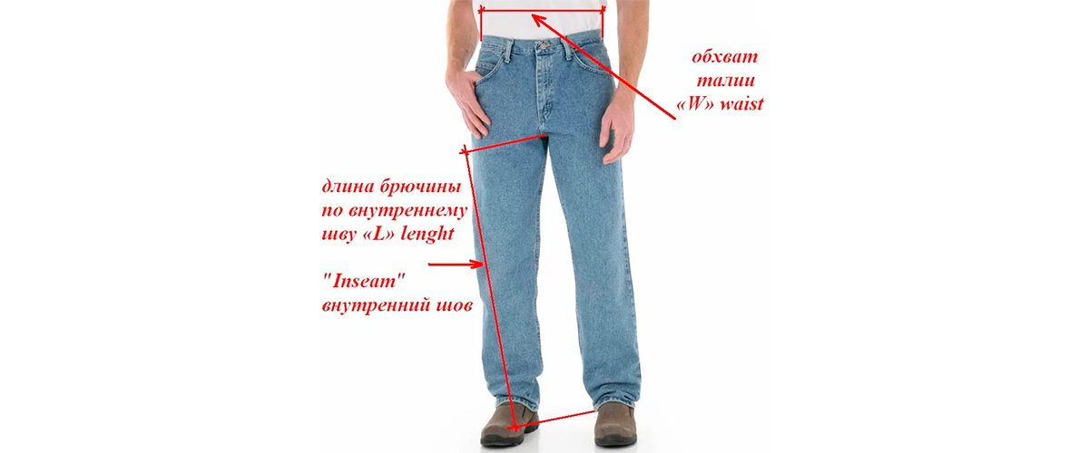 Как измерить мужские джинсы
