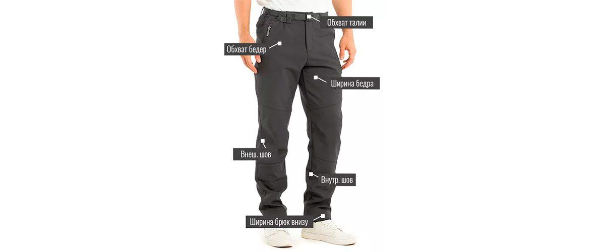 Как измерить мужские брюки и шорты