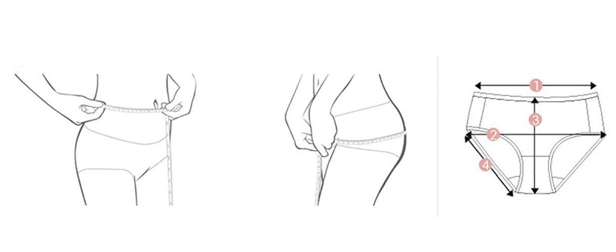 Как измерить женское нижнее белье